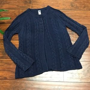 🍁🌻 GAP Outlet Navy Blue Cabled Swing Cardigan